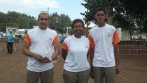 Smith Vincent, Rosina Sandra, Daya Loïc les champions triplette mixte 2011