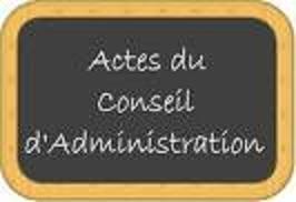 PV DES REUNIONS DU CONSEIL D'ADMINISTRATION 14 DECEMBRE ET 8 JANVIER