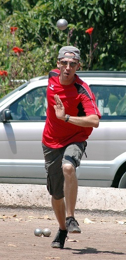 Christophe Vaudrel à l'entraînement avant la compétition