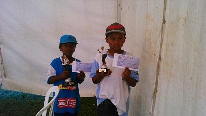 Les champions et vice-champions benjamins 2015