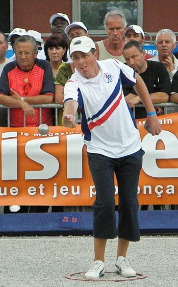La légende de la photo : Philippe Suchaud au tir. Très efficace (Photo : Boulistenaute)