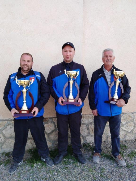 Robi - Martial - Daniel Champion triplettes 2019.