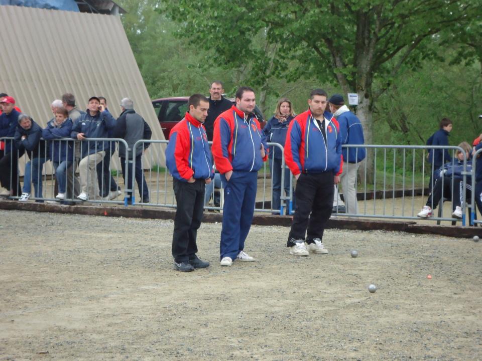 David , Mickaêl , Sébastien représenteront nos couleurs à ROANNE ce week end au championnat de France Triplettes.