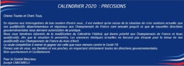 MESSAGE DE LA FFPJP LE 20 MARS 2020
