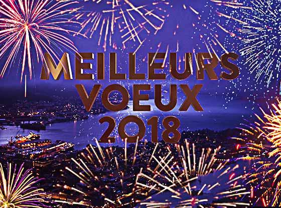 MEILLEURS VOEUX A TOUS POUR 2018